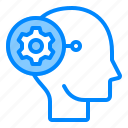brain, gear, head, mind, progressive, think icon