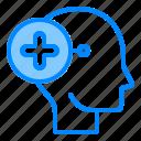 brain, head, mind, positive, think icon