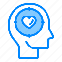 brain, head, mind, peacefull, think icon