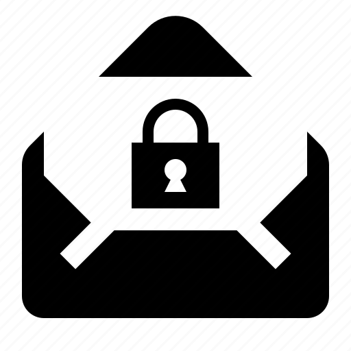 e-mail, letter, locked, mail, message, post, protected, secure icon