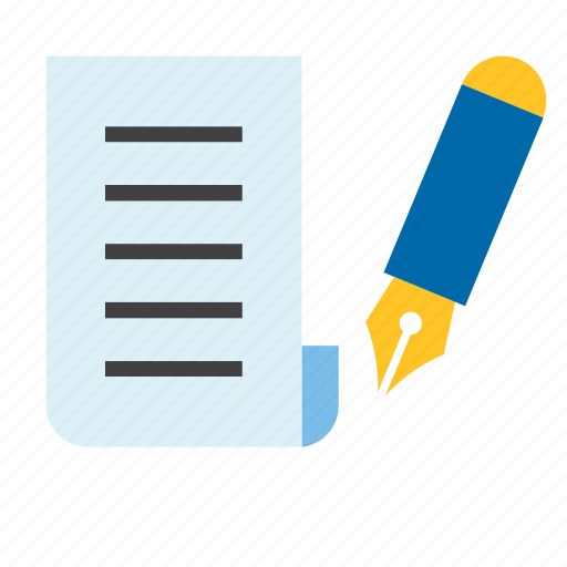 fountain pen, letter, mail, office, paper, post, service icon