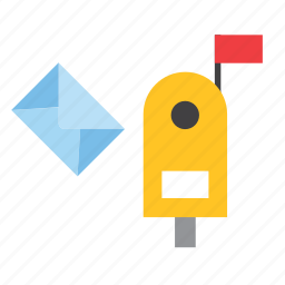 letterbox, mail, mailbox, office, post, postbox, service icon