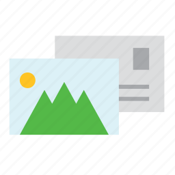 letter, mail, office, picture, post, postcard, service icon
