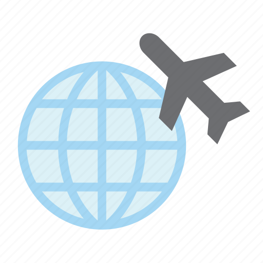 aeroplane, aircraft, airplane, airport, plane, transport, world icon