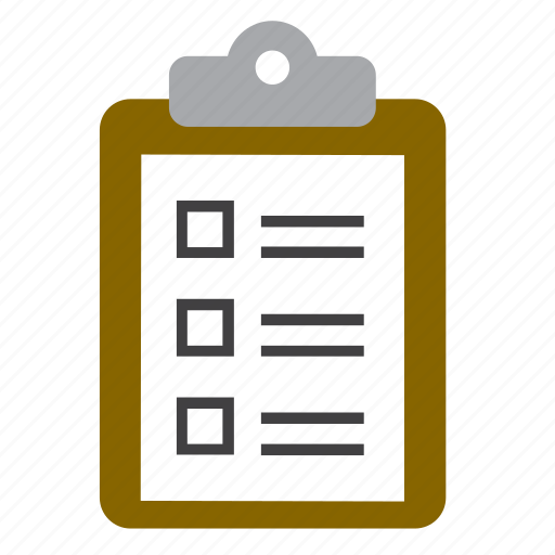 checklist, document, form, inventory, list, report, task icon