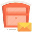 communications, letter, postbox, mail, box, letterbox icon