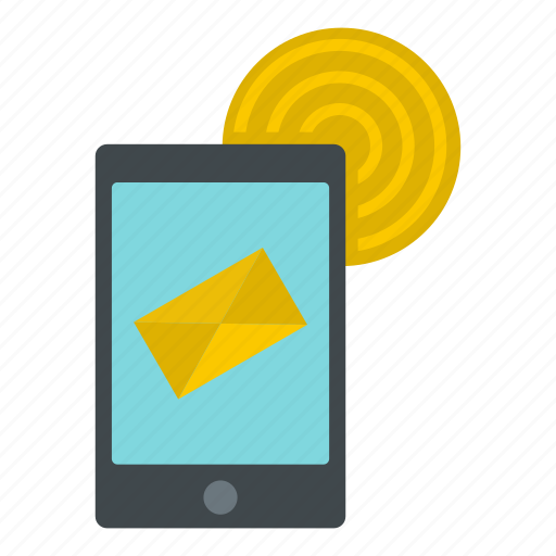 communication, concept, email, envelope, fi, smartphone, wi icon
