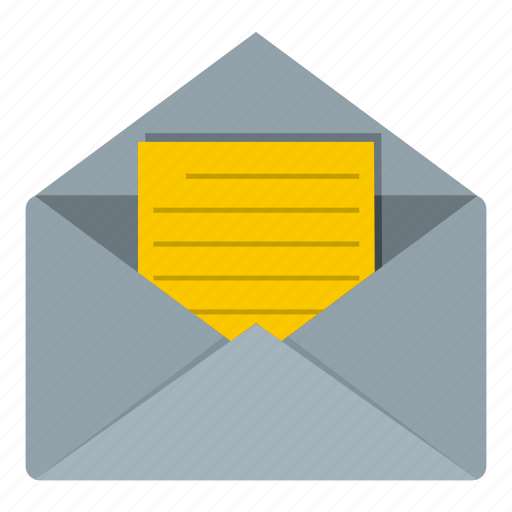 envelope, letter, mail, mark, message, open, sheet icon