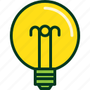 bulb, electric, energy, light, power icon