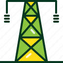 building, electric, electricity, energy, line, power, tower icon