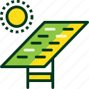 ecology, energy, power, solar cell, sun icon