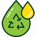 drop, energy, oil, power, recycle, reuse, water icon