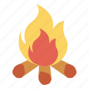 burn, campfire, fire, flame icon