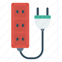 connector, electric, extension, plugin icon