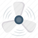 air, blade, blowing, fan icon