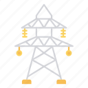 electric, pole, power, tower icon