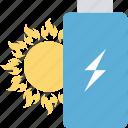 solar energy, thunder, battery, charging, power