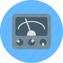 ammeter, multimeter, volt testing, voltage meter, voltmeter icon