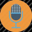 mic, microphone, recording, speak, studio icon