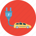 eco car, electric automobile, electric car, electric powered car, electric vehicle icon