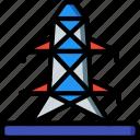 eco, economic, energy, power, pylon icon