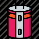 capacitor, eco, economic, energy, power icon