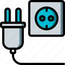 eco, economic, energy, plug, power, socket icon