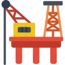 eco, economic, energy, oil, power, rig icon