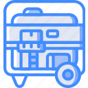 eco, economic, energy, generator, portable, power icon
