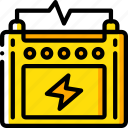 battery, car, eco, economic, energy, power icon