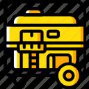 portable, generator, eco, energy, power, economic icon