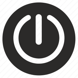 electric, power, round icon