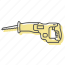 blade, cut, diy, power, reciprocating, saw, tools icon