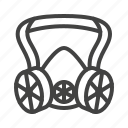 equipment, gas, mask, ppe, respirator, safety icon