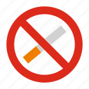 addiction, cigarette, forbidden, no, smoking, stop, warning icon