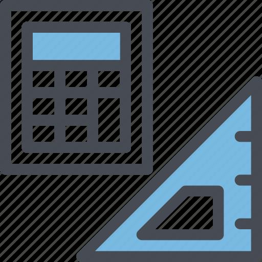 calculator, design, engineering, formal, pen, science, tools icon