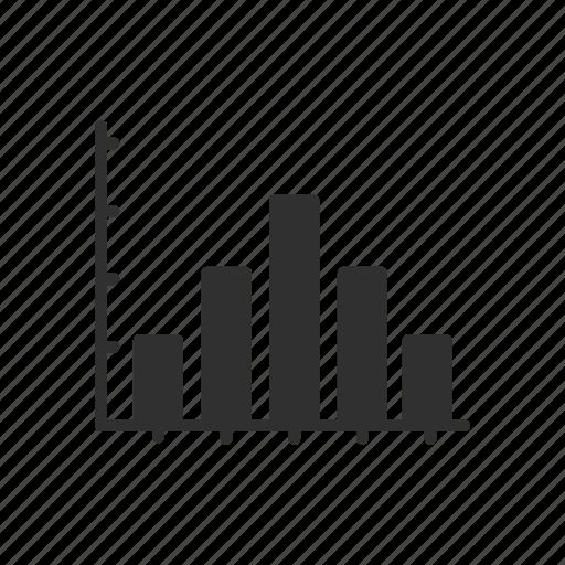bar graph, graph, line graph, statistics icon