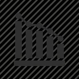 bar graph, graph, line graph, report icon
