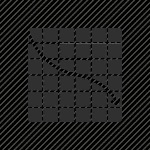 graph, graphing calculator, line graph, statistics icon