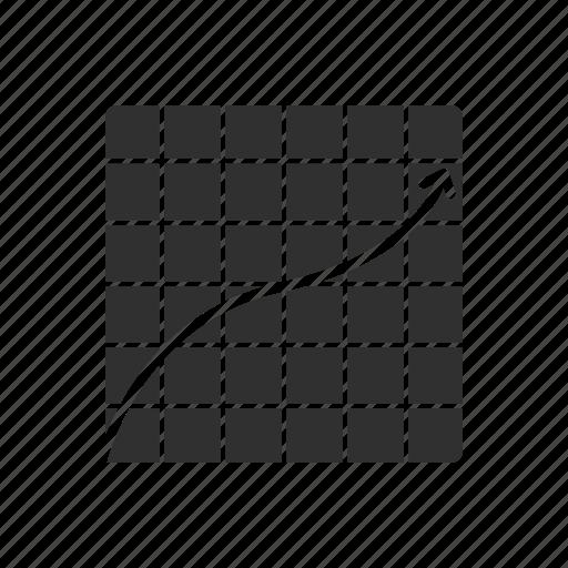 bar chart, bar graph, graphing calculator, line graph icon