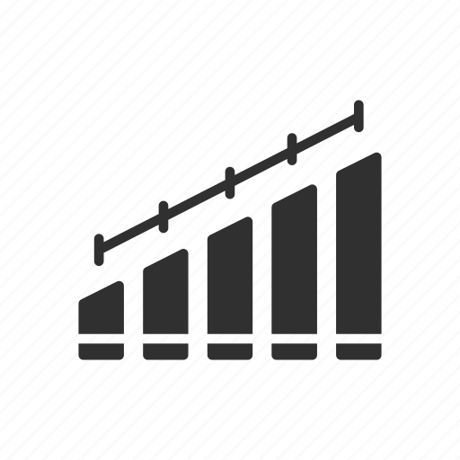 bar chart, bar graph, line graph, statistic icon