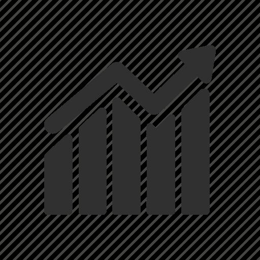 analytics, bar graph, line graph, statistics icon