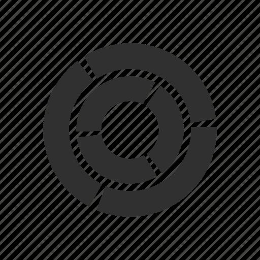 analytics, circle chart, doughnut graph, pie graph icon