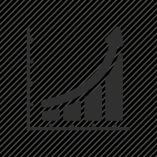 bar graph, chart, report, statistics icon