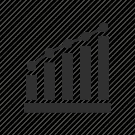 bar graph, graph, growth, line graph icon