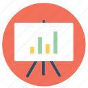 analytics, bar, business data, chart, presentation, research, sales chart icon