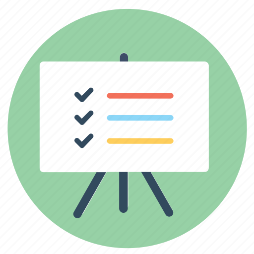 business goals, check, checklist, list, notes, tasks, to do list icon