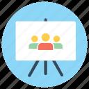 business presentation, group, managment, people, presentation, social community icon
