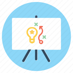 business strategy, plan, planning, presentation, project, strategy icon