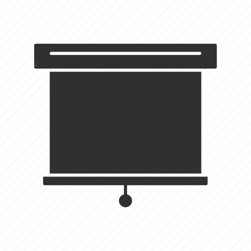 projector, roll up screen, screen, white screen icon